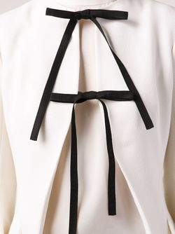 Open Front Tie Detail Jacket Dior                                                                                                              белый цвет
