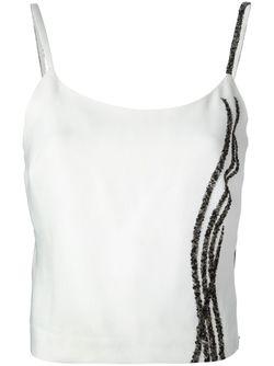 Укороченный Топ С Декоративной Отделкой Jean Louis SCHERRER VINTAGE                                                                                                              белый цвет