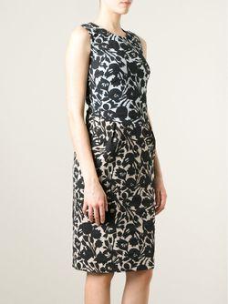 Платье По Фигуре В Принт Odeeh                                                                                                              чёрный цвет