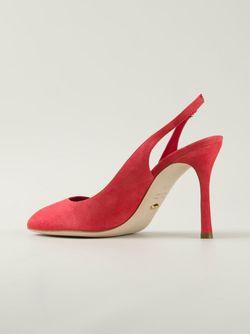 Туфли С Открытой Пяткой Sergio Rossi                                                                                                              красный цвет
