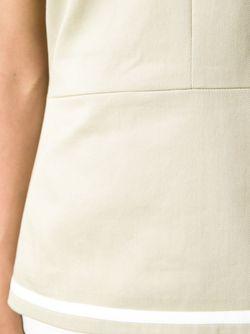 Топ С Контрастной Полоской Victoria Beckham Denim                                                                                                              Nude & Neutrals цвет