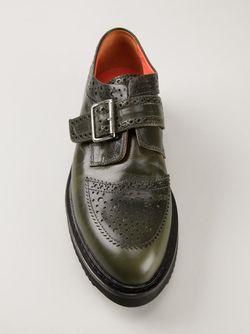 Ботинки-Дерби С Ребристой Подошвой Kris Van Assche                                                                                                              зелёный цвет