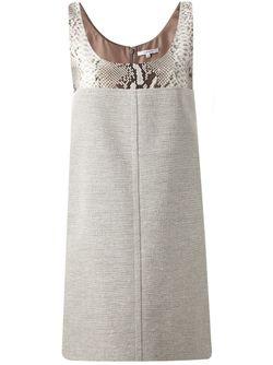 Платье С Панелью С Эффектом Змеиной Кожи Carven                                                                                                              чёрный цвет