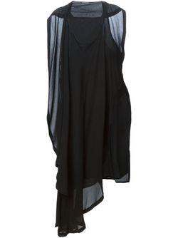 Асимметричное Драпированное Платье Ann Demeulemeester                                                                                                              None цвет