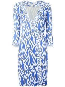 Платье Julian С Запахом Diane Von Furstenberg                                                                                                              синий цвет