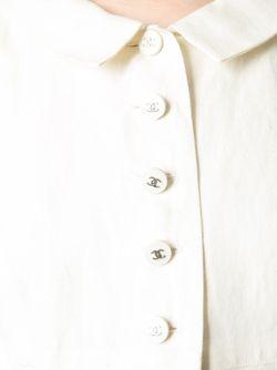Платье На Пуговичной Планке Спереди Chanel Vintage                                                                                                              Nude & Neutrals цвет
