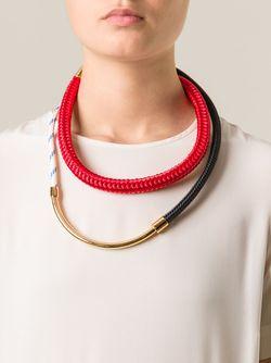 Ожерелье С Контрастными Панелями Marni                                                                                                              красный цвет