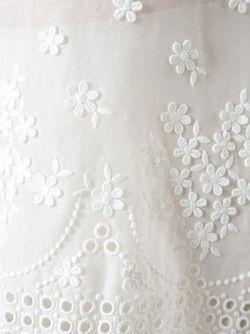 Топ Без Рукавов С Вышивкой GIAMBA                                                                                                              белый цвет