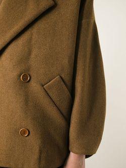 Полупальто Свободного Кроя Henrik Vibskov                                                                                                              коричневый цвет