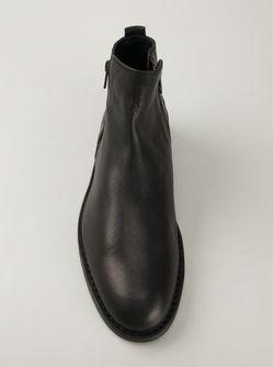 Ботинки По Щиколотку С Молнией Ann Demeulemeester                                                                                                              черный цвет