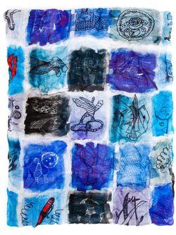 Illustrated Print Scarf Faliero Sarti                                                                                                              многоцветный цвет