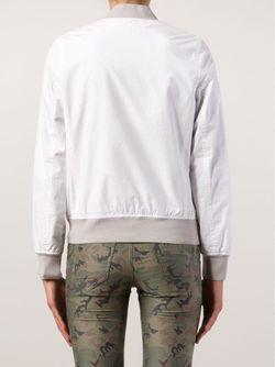 Куртка-Бомбер С Вышивкой Lucien Pellat-Finet                                                                                                              белый цвет
