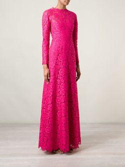 Вечернее Платье С Цветочной Вышивкой Valentino                                                                                                              розовый цвет