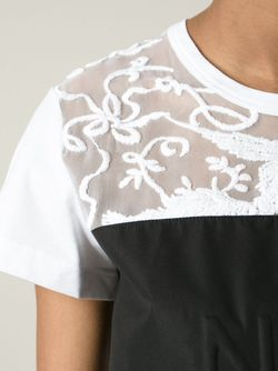 Sheer Lace Logo Panel T-Shirt No21                                                                                                              белый цвет
