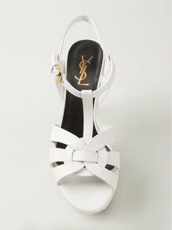 Босоножки Tribute Saint Laurent                                                                                                              белый цвет