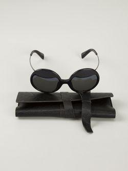 Солнцезащитные Очки В Круглой Оправе Yohji Yamamoto                                                                                                              черный цвет