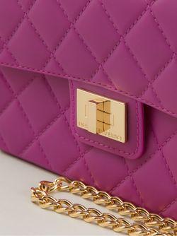 Сумка На Плечо В Рельефную Клетку Designinverso                                                                                                              розовый цвет