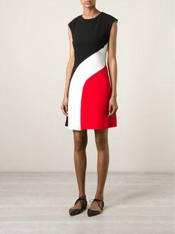 Платье Дизайна Колор-Блок Carven                                                                                                              красный цвет