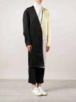 Пальто В Стиле Колор-Блок Maison Margiela                                                                                                              черный цвет