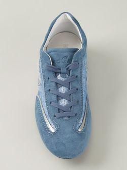 Декорированные Пайетками Кеды С Панельным Дизайном Hogan                                                                                                              синий цвет