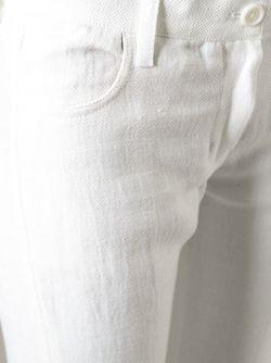 Укороченные Брюки Initial Ann Demeulemeester                                                                                                              белый цвет