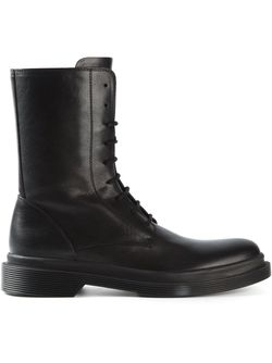 Ботинки На Шнуровке Ann Demeulemeester                                                                                                              черный цвет