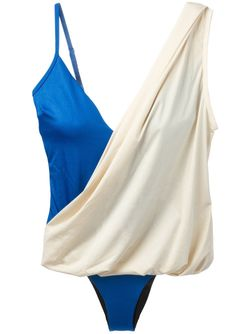 Комплект Gabrielle Из Топа И Слитного Купальника MOEVA                                                                                                              синий цвет