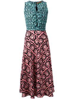 Платье Со Сплошным Принтом Duro Olowu                                                                                                              синий цвет