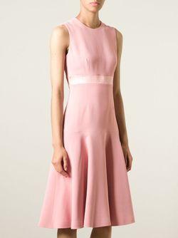 А-Образное Платье Alexander McQueen                                                                                                              розовый цвет