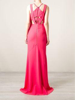 Вечернее Платье С Лямками На Спине Roland Mouret                                                                                                              розовый цвет