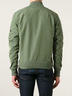Классическая Куртка-Бомбер Alpha Industries                                                                                                              зелёный цвет