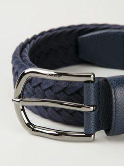 Плетеный Ремень С Пряжкой Tod'S                                                                                                              синий цвет