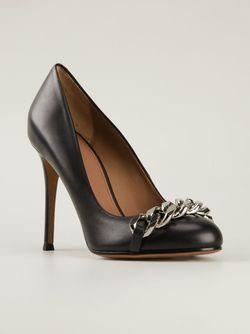 Туфли С Декоративной Цепью Givenchy                                                                                                              черный цвет