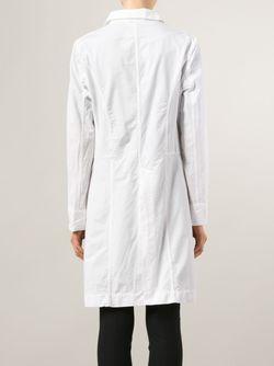 Приталенное Однобортное Пальто CASEY CASEY                                                                                                              белый цвет