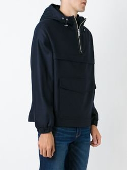 Hooded Windbreaker Ami Alexandre Mattiussi                                                                                                              синий цвет