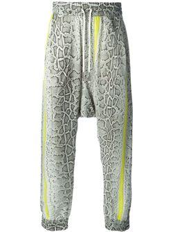 Брюки С Принтом Кожи Питона И Заниженной Roberto Cavalli                                                                                                              многоцветный цвет