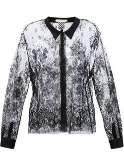 Прозрачная Рубашка Из Кружева OFF-WHITE                                                                                                              черный цвет
