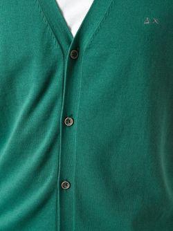 Кардиган C V-Образным Вырезом Sun 68                                                                                                              зелёный цвет