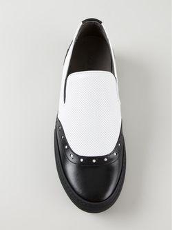 Кеды Слип-Он С Панельным Дизайном Robert Clergerie                                                                                                              чёрный цвет