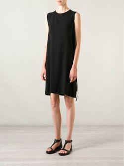 Платье Шифт С Завязками Ann Demeulemeester                                                                                                              чёрный цвет