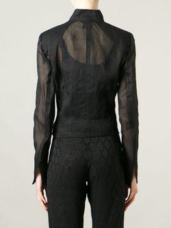 Прозрачная Куртка На Молнии Ann Demeulemeester                                                                                                              чёрный цвет