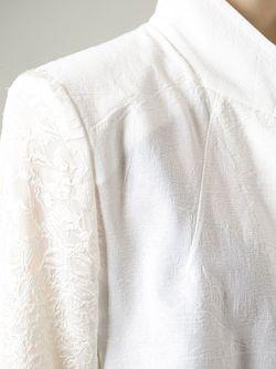 Блейзер С Жаккардовыми Вставками Ann Demeulemeester                                                                                                              белый цвет