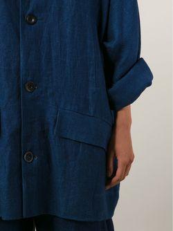 Объёмное Джинсовое Пальто TOOGOOD                                                                                                              синий цвет