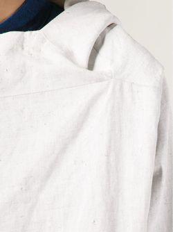 Двубортное Пальто С Капюшоном TOOGOOD                                                                                                              белый цвет