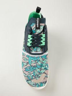 Кроссовки Zx 8000 Boost С Лиственным Принтом adidas Originals                                                                                                              зелёный цвет