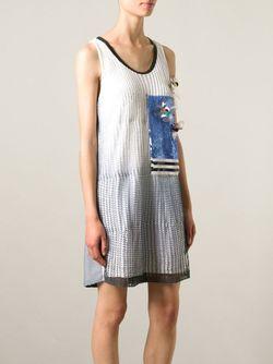 Платье Шифт С Декорированной Панелью Aviù                                                                                                              синий цвет