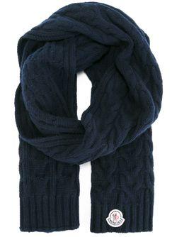 Шарф Вязки Косичкой Moncler                                                                                                              синий цвет