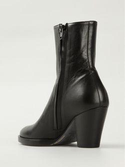 Ботинки На Массивном Каблуке A.F.Vandevorst                                                                                                              чёрный цвет