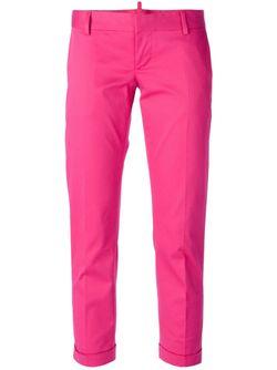 Укороченные Брюки Dsquared2                                                                                                              розовый цвет