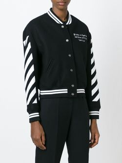 Укороченная Куртка-Бомбер OFF-WHITE                                                                                                              None цвет